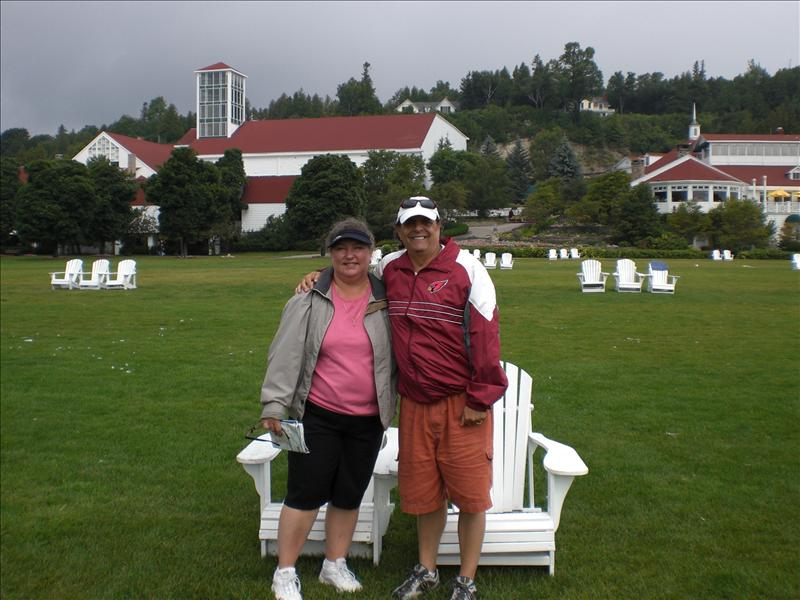 Us at Mackinac Island...