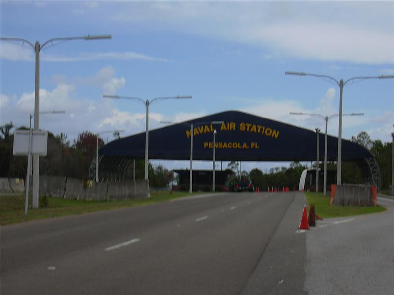 entrance to base