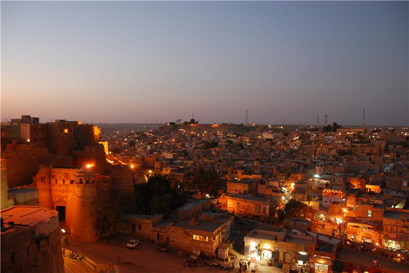 Overlooking Jaisalmer at night