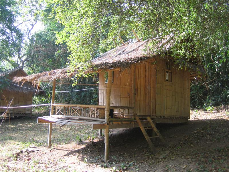 unser Bamboo House im Erawan Nationalpark