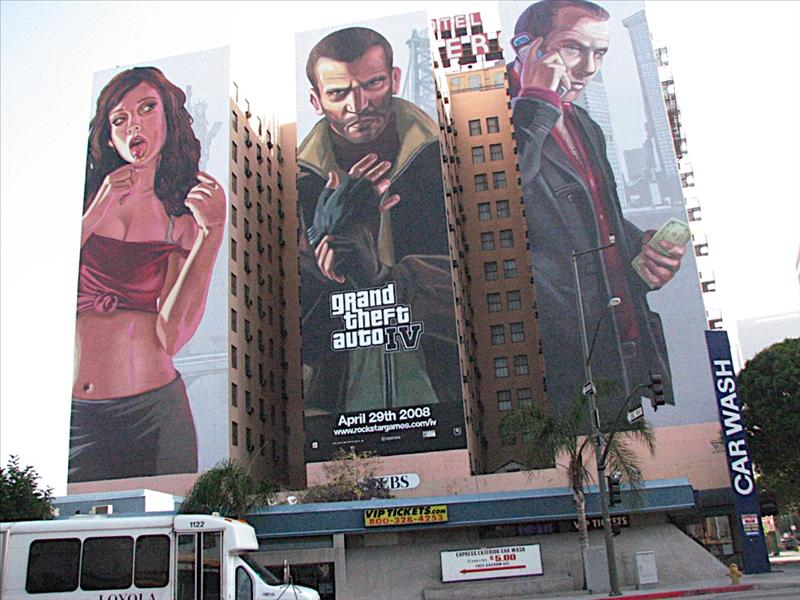 Grand Theft Auto 4 Ad on building