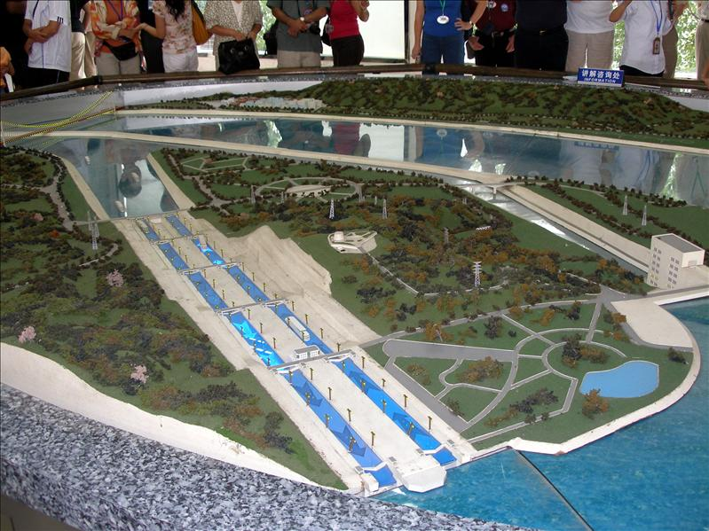 Model of the Three Gorges Dam project, a very controversial topic.