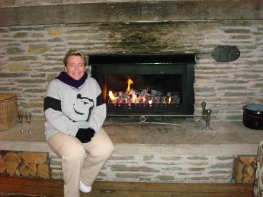Beside the fireplace at the Heritage resort, Queenstown