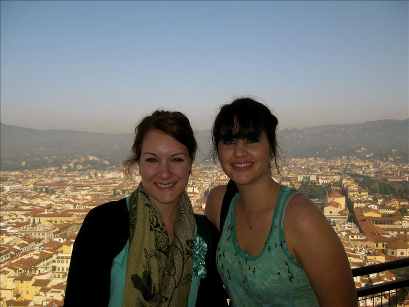 me and bethany at the top of the duomo