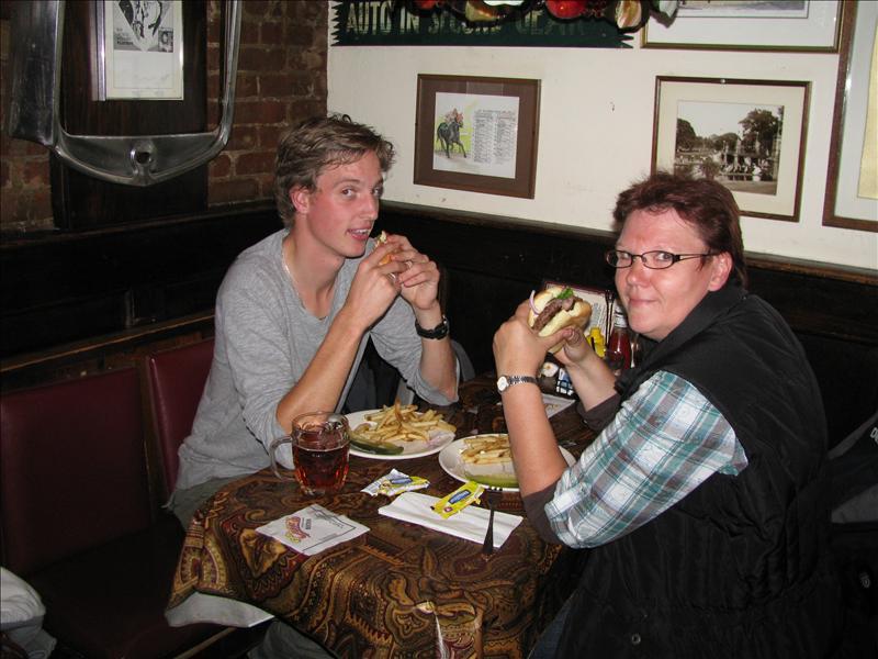 uiteraard hamburgers als diner