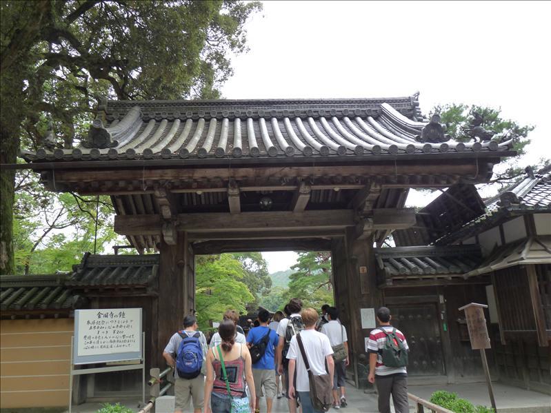 my group entering kinkakuji