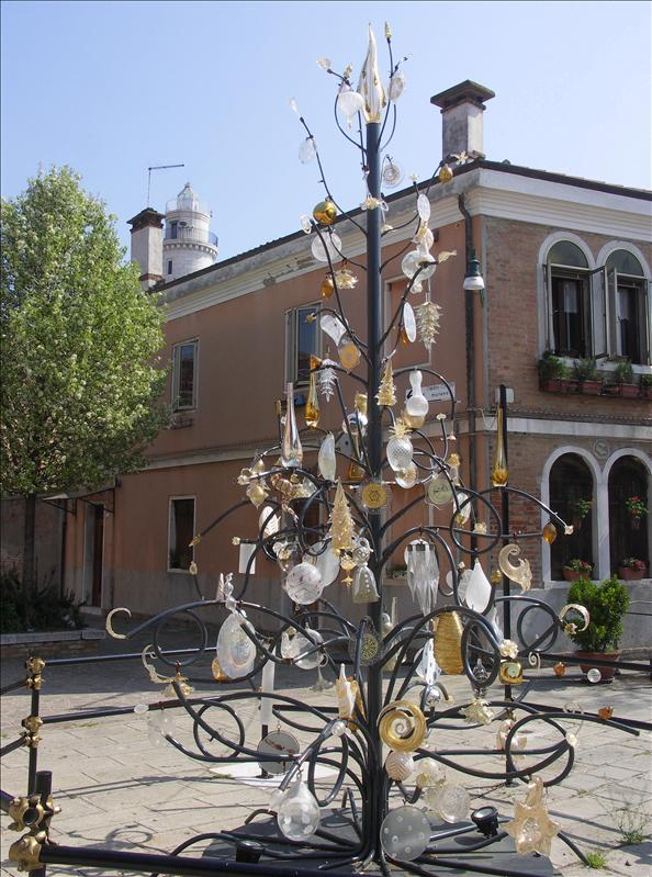 Glass dangly sculpture