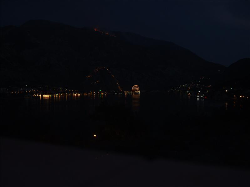 Night-Time View from Hotel Bokeljski Dvori, Prcanj