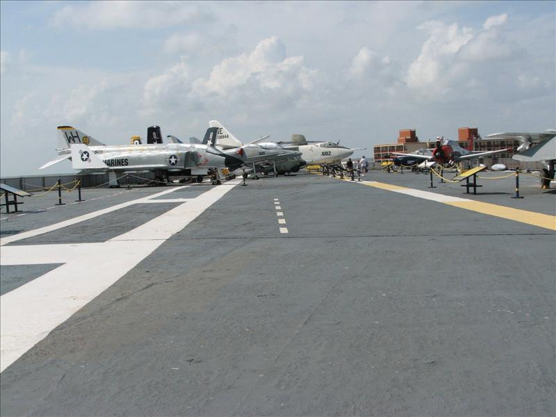 Deck of USS Lexington
