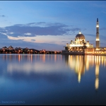 Sunset from Putrajaya Mosque