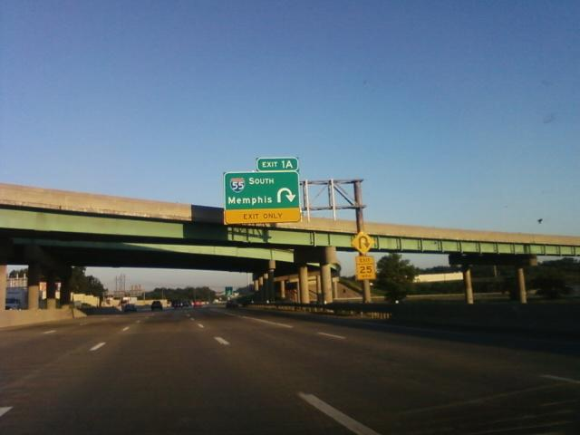 I-55 intersects here with I-270 southbound