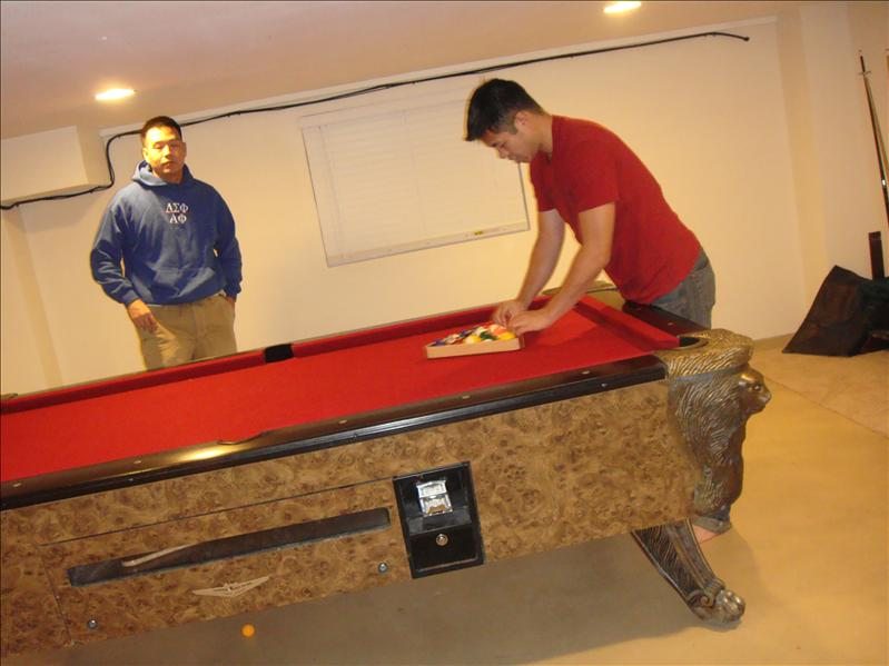 then there's a game of pool...