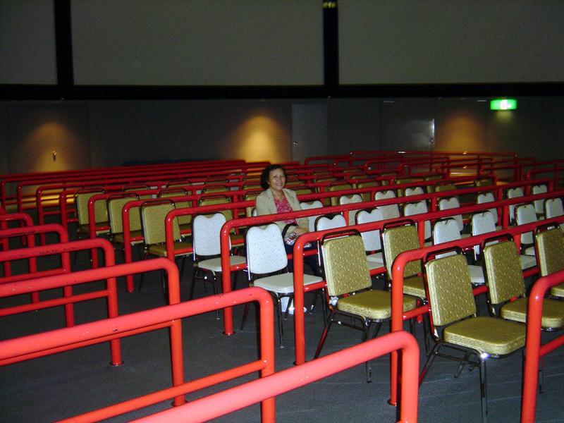 "360 degree multi-screen ""Panorama Theater"" in ASPM."