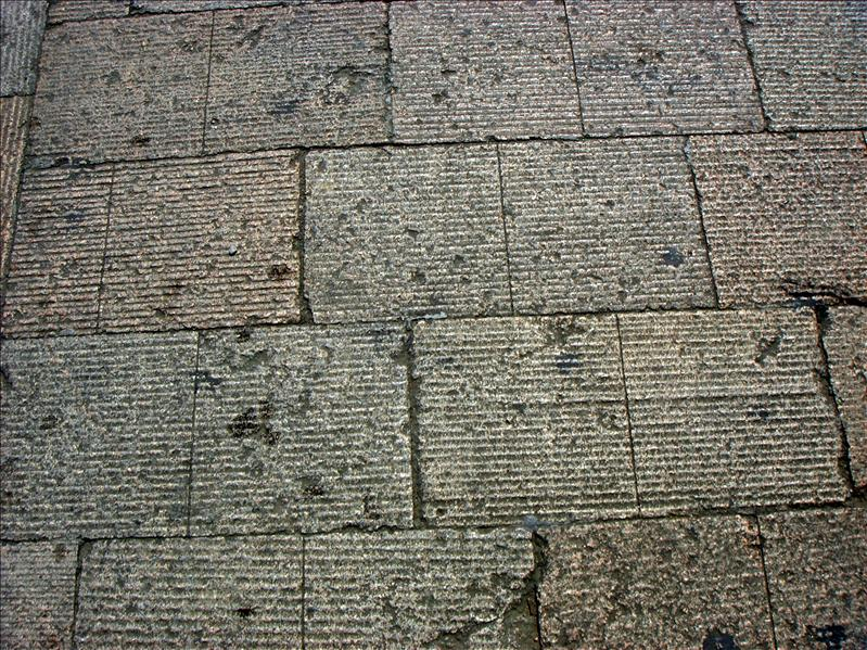 the road is made of stones. 600 years old at least
