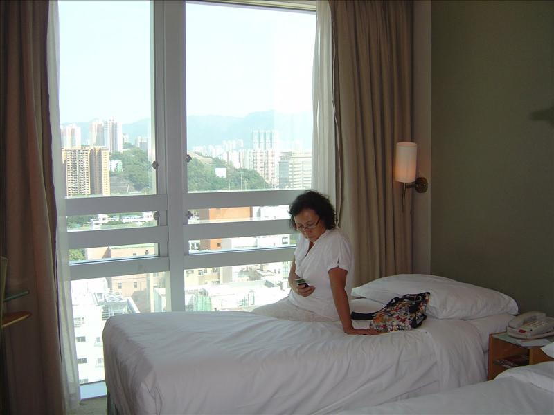 small room with city view of Empire Hotel Kowloon for 4 nights