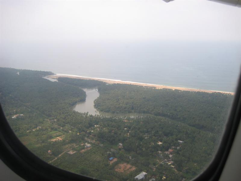 Where river meets sea... at Trivandrum