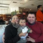 mit Laura, Julio und Giovanni im Restaurant