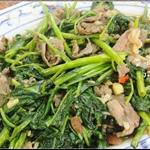 青菜炒羊肉
