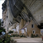 Houses still built into the rock.