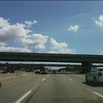 I-64 overpass goes over I-270 southbound