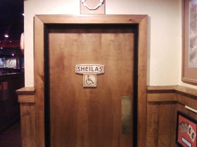 gal's restroom entrance