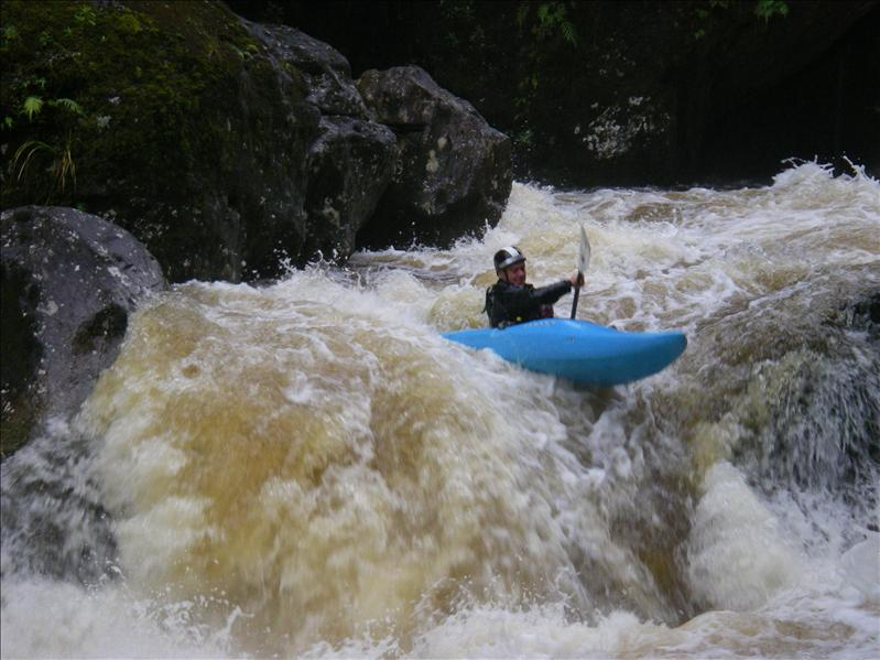 I had semi dislocatd my shoulder by this stage so i was portaging the major rapids. The final real hard one.