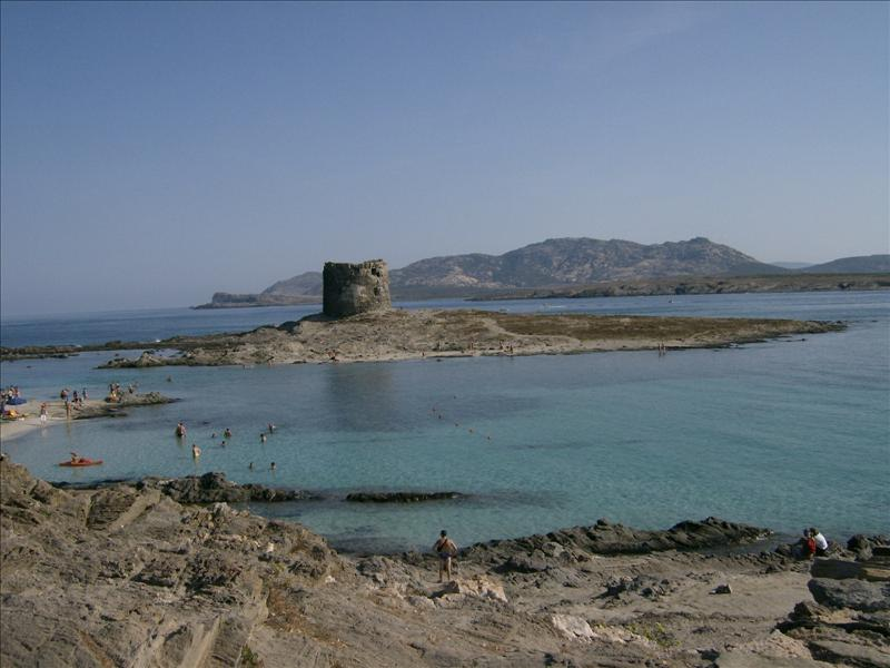 Beach La Pelosa Stintino with Tower