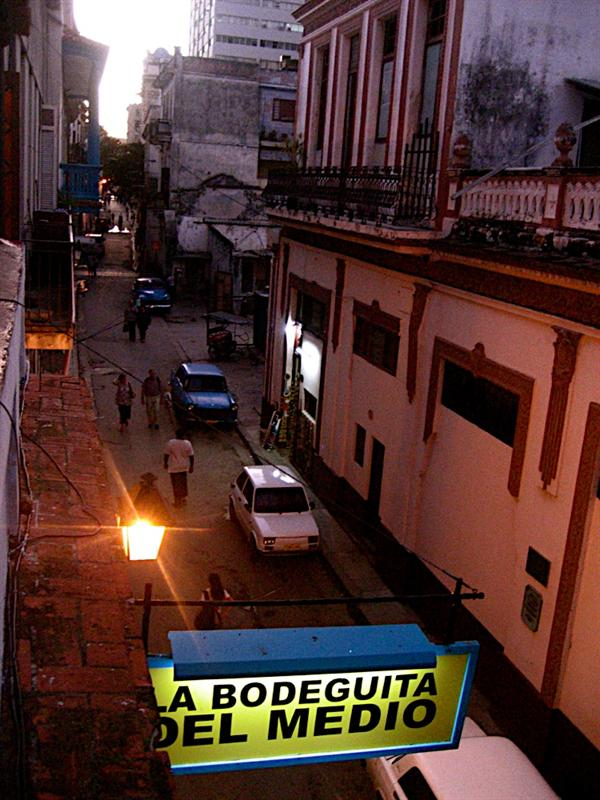From up above the La Bodeguita del Medio.