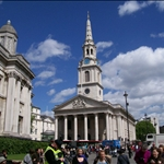 trafalgr square and Church St Martin in the flield