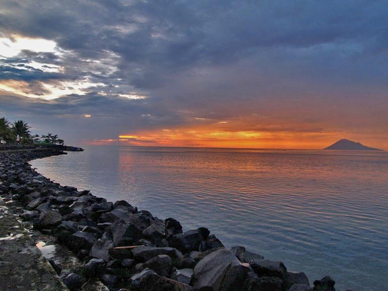 Sunset on Manado beach