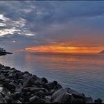 Sunset on Manado beach