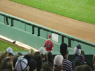 Jonathan Papelbon warming up in the bullpen