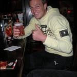 David and his girly drink at TGI Fridays - 17th May