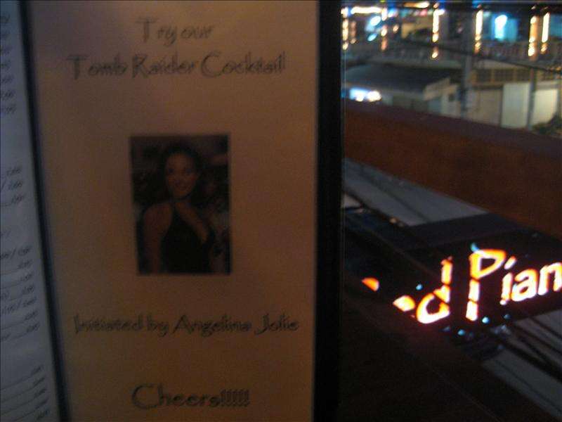 The Tomb Raider cocktail in honor of Angelina Jolie
