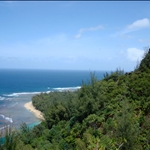 Kauai - Hiking tour, view over Ke