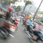 This is how it feels to cross the road in Ho Chi Minh.