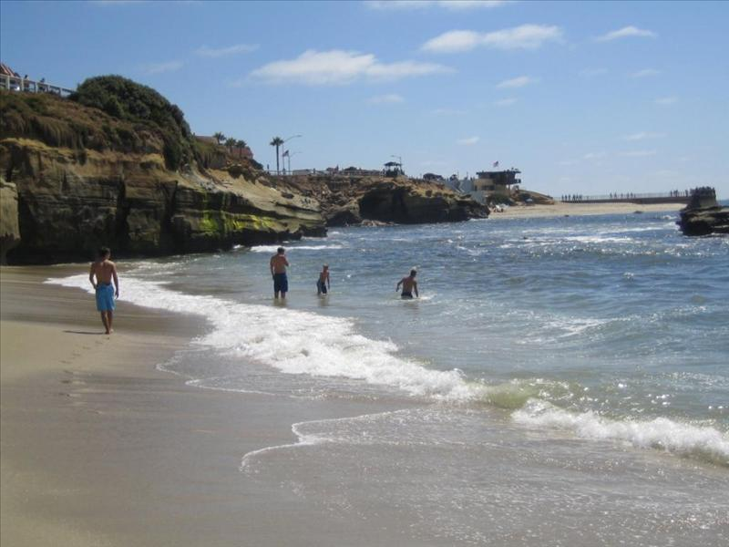 La Jolla Beach with great beach activities