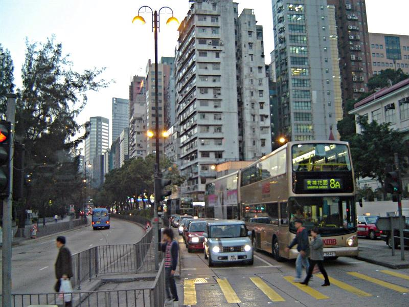 A crossroad, Hong Kong