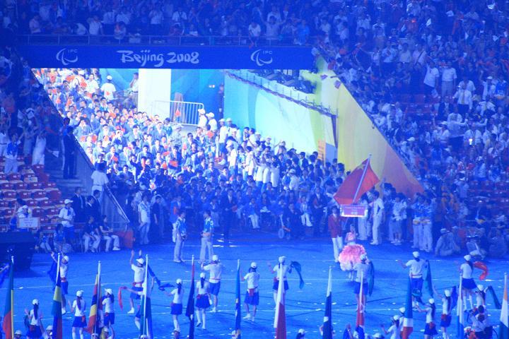 中国队准备入场