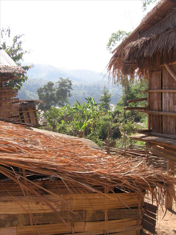 ... and straw, bamboo huts are normal.