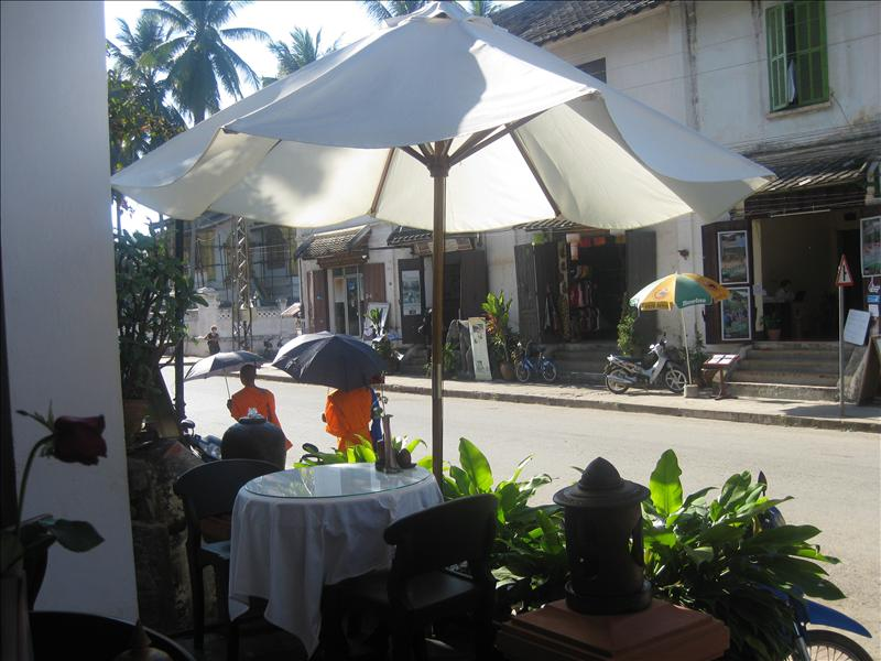Restaurant scene in Luang Prabang