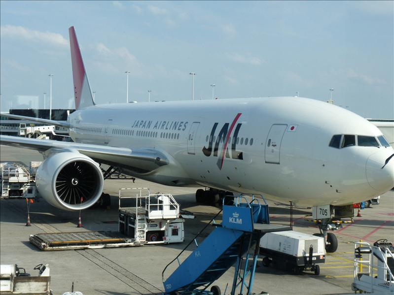 leaving from AMS Schiphol to Japan with JAL