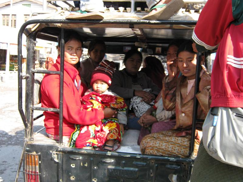 """the """"bus"""" from Hsipaw to Namshan"""