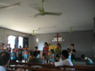 A church in Nonkhong village, where we went to hang out and play with the kids for an afternoon.