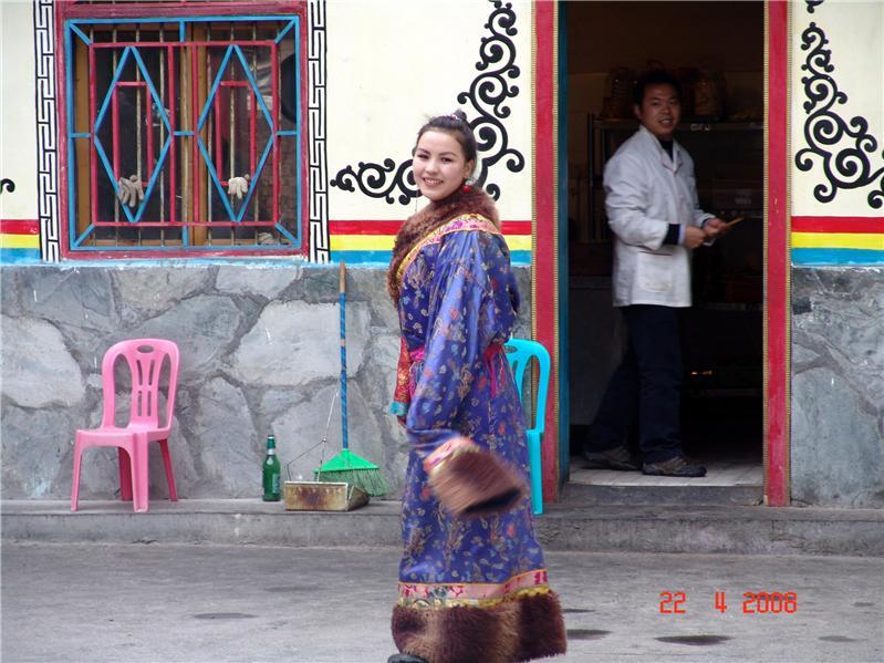 藏族少女、四川