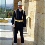 ON GUARD, MAUSOLEUM OF MUSTAFA KEMAL, ANKARA
