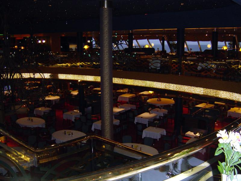 """ROTTERDAM "" dining room (upper level for fixed seating and lower level for open seating)"