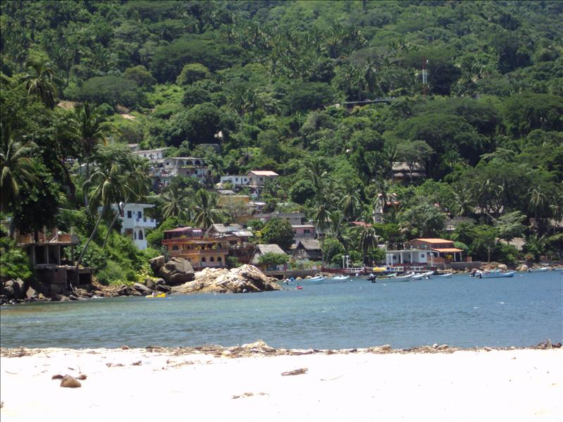 Yelapa - Fischerdorf nur per Boot zugaenglich