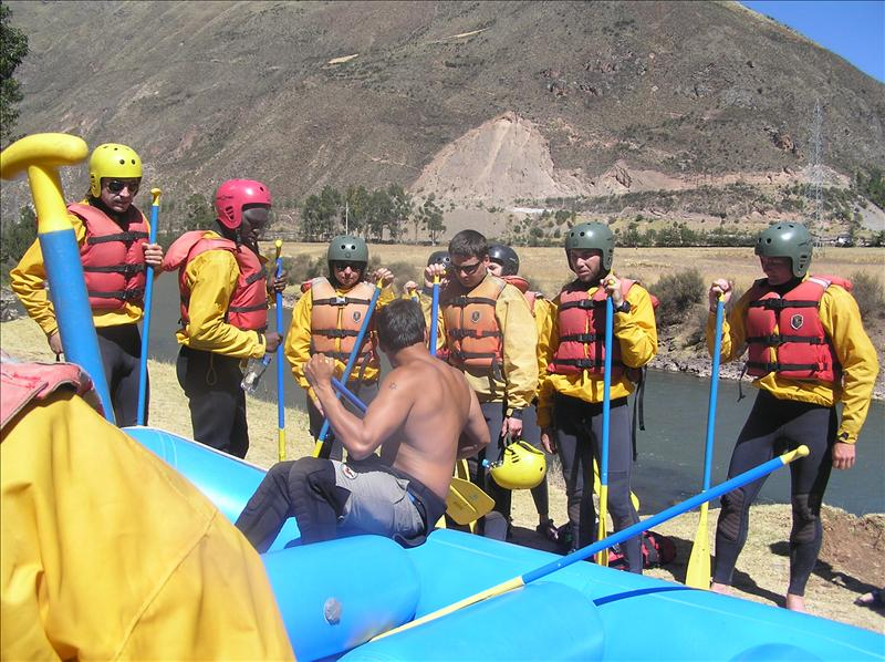 Our rafting group.  Tim and Anthony's last day in Cusco.