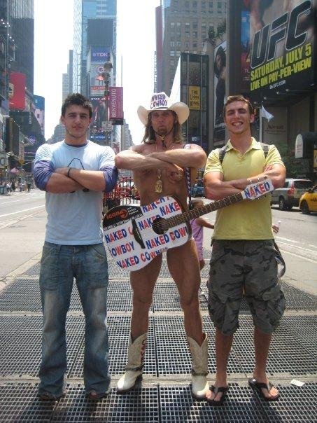 Irish, Naked Cowboy and Max